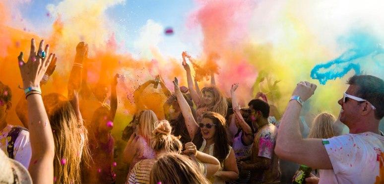 Holi Colour Festival Panorama